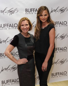 Photo of the President of Lord & Taylor, Liz Rodbell (Left) & Chrissy Teigen (Right)