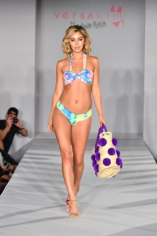 MIAMI BEACH, FL - JULY 13: a model walks the runway at Versakini x Amanda Perna Runway Show Presented By Ivy at W South Beach on July 13, 2016 in Miami Beach, Florida. (Photo by Slaven Vlasic/Getty Images for Versakini)