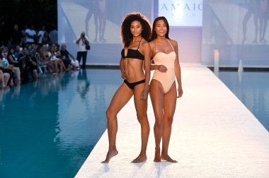 MIAMI BEACH, FL - JULY 15: Models walk the runway at Hammock 2017 Collection at SwimMiami at W South Beach on July 15, 2016 in Miami Beach, Florida. (Photo by Frazer Harrison/Getty Images for Hammock)