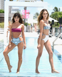 MIAMI BEACH, FL - JULY 16: models walk the runway at the Revel Rey 2017 Collection at SwimMiami - Runway at W South Beach on July 16, 2016 in Miami Beach, Florida. (Photo by Frazer Harrison/Getty Images for Revel Rey)