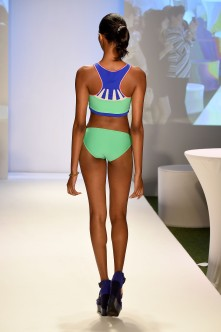 MIAMI BEACH, FL - JULY 16: A model walks the runway at the Lycra Moves Swim Cocktail Event at SwimMiami - Runway at W South Beach on July 16, 2016 in Miami Beach, Florida. (Photo by Frazer Harrison/Getty Images for LYCRA)