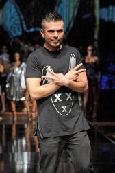 NEW YORK, NY - SEPTEMBER 14: Creative Director at Art Hearts Fashion and Designer Erik Rosete walks the runway during the Mister Triple X Featuring L.A.M.B. by Gwen Stefani show at Art Hearts Fashion NYFW The Shows Presented by AIDS Healthcare Foundation at The Angel Orensanz Foundation on September 14, 2016 in New York City. (Photo by Arun Nevader/Getty Images for Art Hearts Fashion)