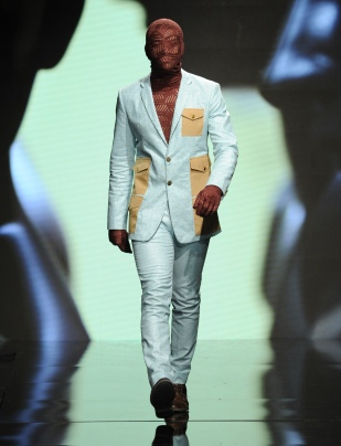 LOS ANGELES, CA - OCTOBER 09: A model walks the runway wearing Kenneth Barlis at Art Hearts Fashion Los Angeles Fashion Week presented by AIDS Healthcare Foundation on October 9, 2016 in Los Angeles, California. (Photo by Arun Nevader/Getty Images for Art Hearts Fashion)