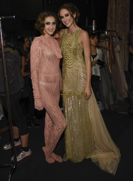LOS ANGELES, CA - OCTOBER 09: Models backstage at Art Hearts Fashion Los Angeles Fashion Week on October 9, 2016 in Los Angeles, California. (Photo by Arun Nevader/Getty Images for Art Hearts Fashion)