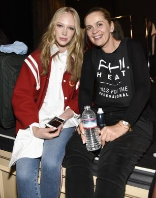 LOS ANGELES, CA - OCTOBER 10: Models backstage at Art Hearts Fashion Los Angeles Fashion Week Backstage on October 10, 2016 in Los Angeles, California. (Photo by Arun Nevader/Getty Images for Art Hearts Fashion)