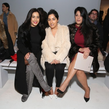 NEW YORK, NY - FEBRUARY 12: (L-R) Shida Kaviani, Shideh Kavaiani and Shirin Kaviani attend the Marcel Ostertag collection during, New York Fashion Week: The Shows at Gallery 3, Skylight Clarkson Sq on February 12, 2017 in New York City. (Photo by Monica Schipper/Getty Images for New York Fashion Week: The Shows)