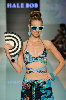 MIAMI, FL - JULY 20: A model walks the runway during Hale Bob at Miami Swim Week Art Hearts Fashion at FUNKSHION Tent on July 20, 2017 in Miami, Florida. (Photo by Arun Nevader/Getty Images for Art Hearts)